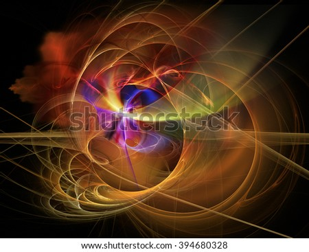 Abstract electromagnetic fractal background - stock photo