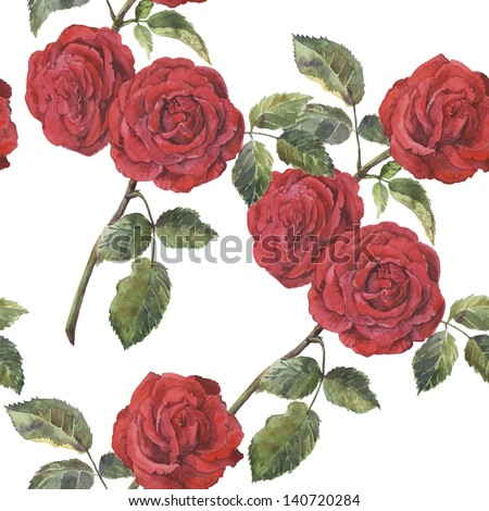 Abstract Elegance seamless floral pattern. Beautiful flowers illustration texture with roses - stock photo