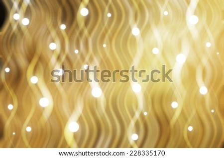 abstract elegant background. gold background with waves and stars - stock photo