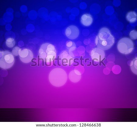 Abstract elegant purple and blue background with bokeh lights - stock photo