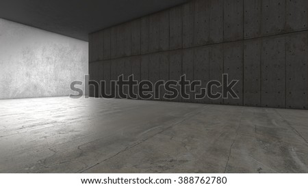 Abstract empty concrete space