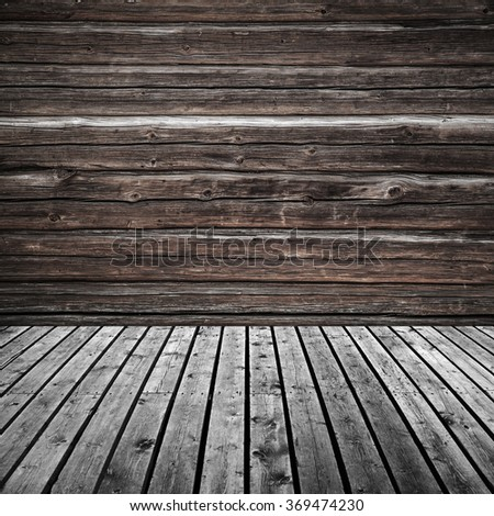 Abstract empty dark wooden room interior background