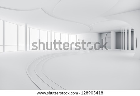 Abstract empty interior