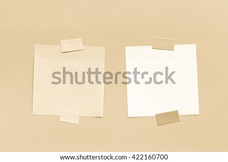 Abstract empty sticky note. Old antique tone. - stock photo
