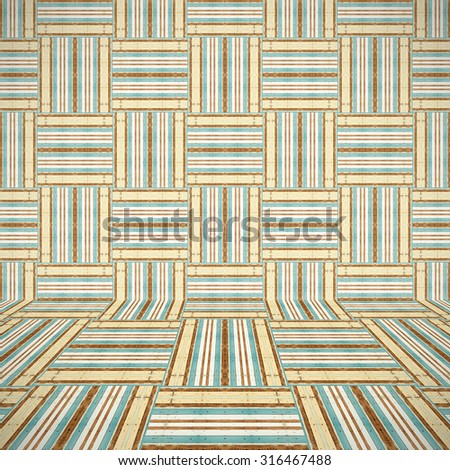 Abstract empty wooden interior room background - stock photo