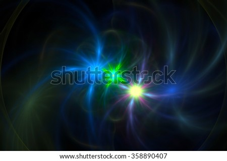 Abstract energy fractal background