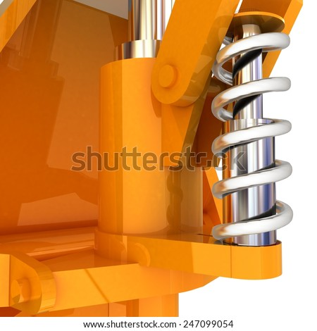 Abstract engineering assembly - stock photo
