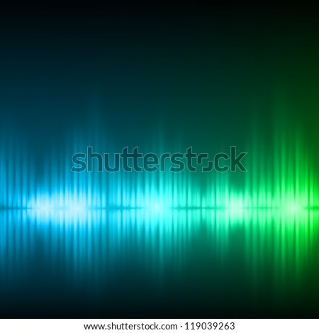 Abstract equalizer background. Blue-green wave. Raster version of the loaded vector.