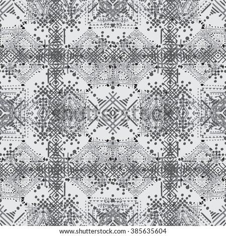 Abstract ethnic seamless pattern. Tribal art print. Background boho texture, wallpaper, wrapping - stock photo