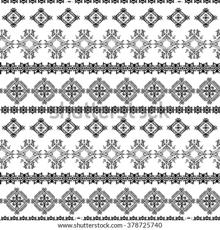Abstract ethnic seamless pattern. Tribal art print. Background texture, wallpaper, wrapping - stock photo