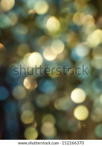Abstract evening background. Blue and yellow bokeh. - stock photo