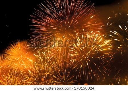 Abstract - explosion of fireworks  - stock photo