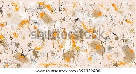 Abstract expressionism  drip style painting.  - stock photo