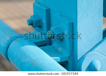 abstract exterior painted metal structure