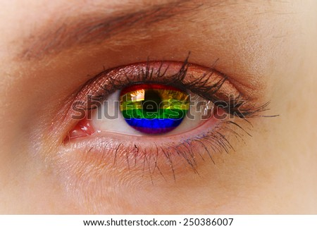 abstract eye with homosexual colors