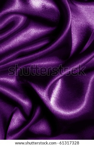 abstract fabric wavy purple silk - stock photo