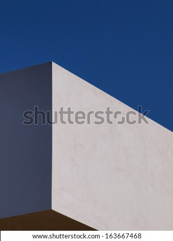 Abstract facade. Building facade detail with minimalist lines.  - stock photo