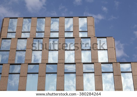 office facade. abstract facade of a modern office building