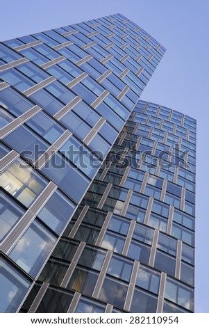 Abstract facade of an office building - stock photo