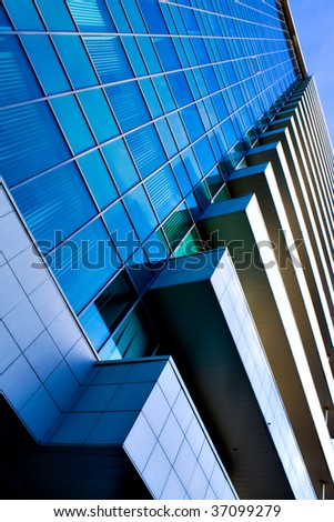 abstract facade of modern building