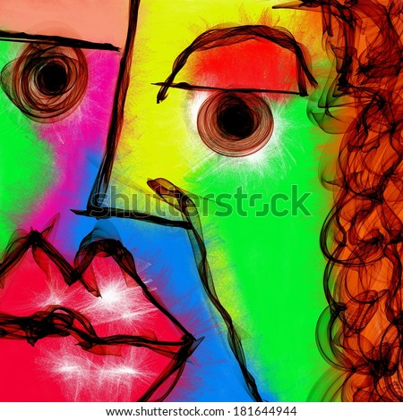 Abstract Faces Painting Stock Images, Royalty-Free Images ...