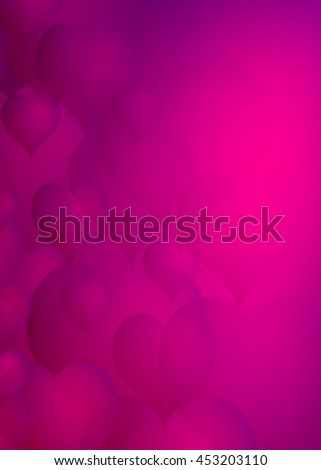 Abstract faded crimson/red hearts as a background for anything from healthcare concepts to valentine wishes. - stock photo