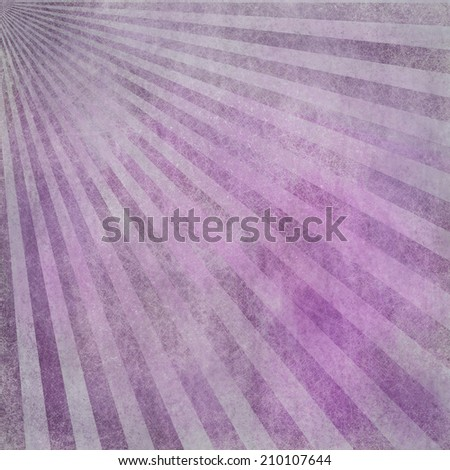 abstract faded retro background, purple pink and white distressed vintage sunburst design pattern of stripes or lines radiating from corner, grunge background texture - stock photo