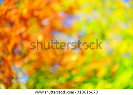 Abstract fall blur decorative background - stock photo