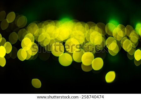 Abstract & Festive background with bokeh defocused lights - Green - stock photo