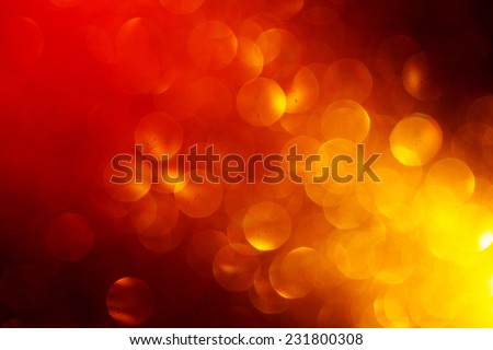 Abstract Festive Background with Red Yellow Blurred Circles. - stock photo
