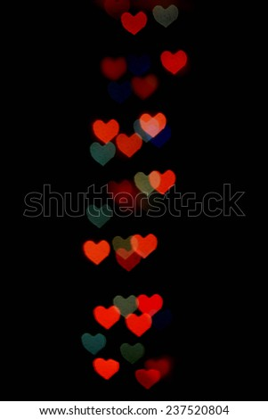 Abstract festive heart bokeh background for Valentines Day