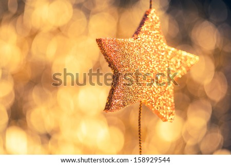 abstract festive stars background - stock photo