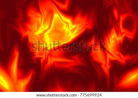 Abstract fiery background design in vivid bright yellow, red and orange colors with dynamic shapes giving a sense of motion.
