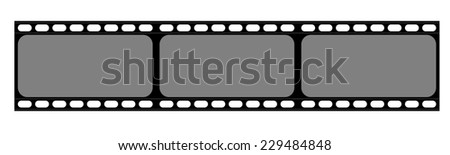 abstract film strip or old camera film - stock photo