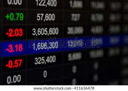 Abstract financial figures background - stock photo