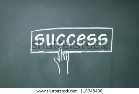 abstract finger click success sign - stock photo