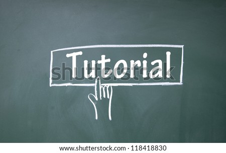 abstract finger click tutorial sign - stock photo