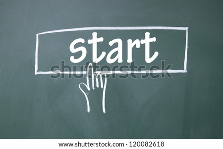 abstract finger start screen - stock photo