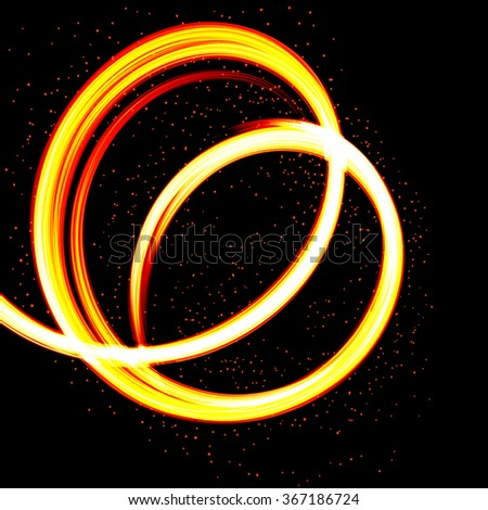 Abstract Fire background-flame design. Raster version. - stock photo