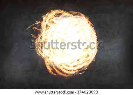 Abstract fire ball - stock photo