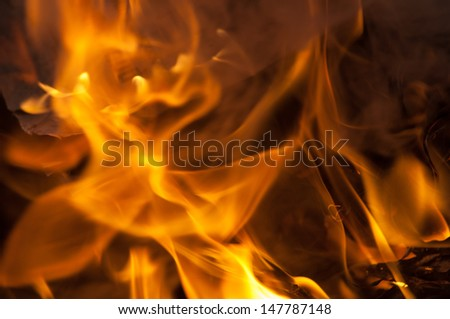 Abstract fire, flame background.
