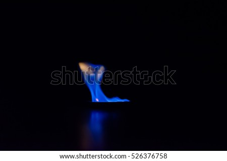 Abstract fire frame on black background