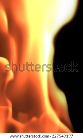 Abstract fire (side view)