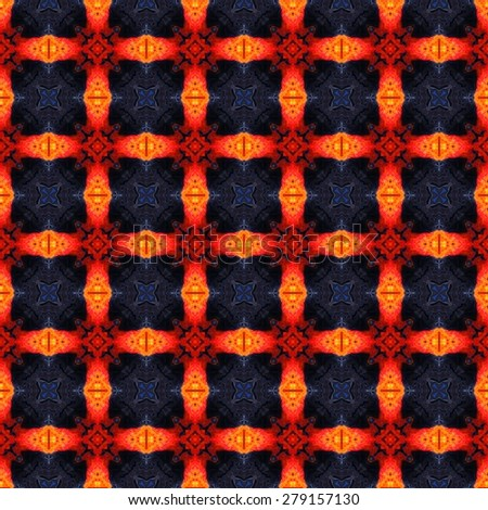 Abstract flame geometrical texture or background made seamless - stock photo
