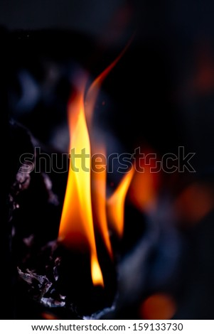 abstract flames on a black background