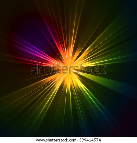 Abstract flash star light. Colorful exploding . illustration.