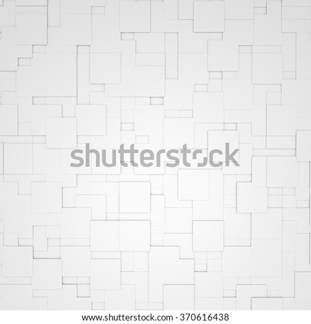Abstract Flat Cubes Background - stock photo
