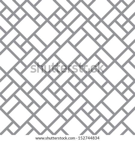 Abstract floor background - seamless monochrome diagonal pattern - stock photo