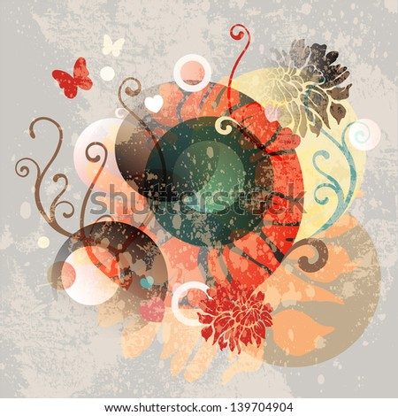 Abstract floral background. Element for design. - stock photo