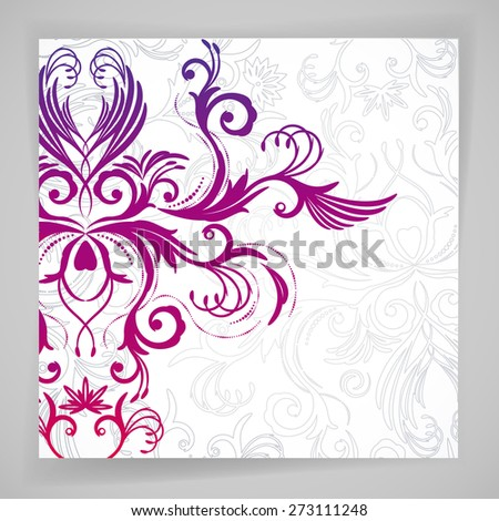 Abstract floral background with oriental flowers. - stock photo